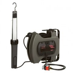 Baladeuse fluo raccordée - avec enrouleur à rappel auto - 230 V~