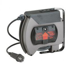 Enrouleur à rappel auto - 230 V prise mobile 2P+T brochage dom - 10 m 3G 1,5 mm²