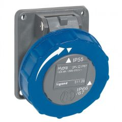 Socle tableau Hypra - IP66/67-55 - 16 A - 200/250 V~ - 2P+T - plast