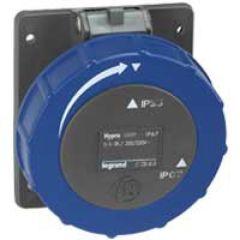 Socle tableau entraxe unifié Hypra -IP66/67-55- 16 A - 200/250 V~ - 2P+T - plast