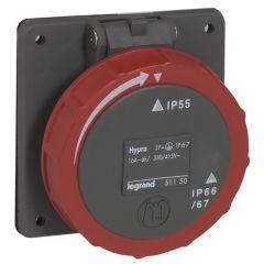 Socle tableau entraxe unifié Hypra -IP66/67-55- 16 A -380/415 V~ - 3P+N+T -plast